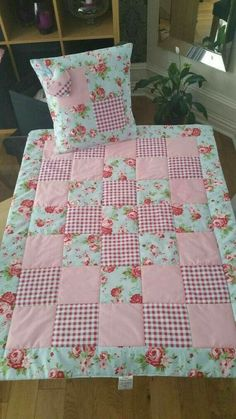 Cath Kidston Lap Quilt Set Quilt with by TraceysTreasureChest # patchwork quilts shabby chic Vintage style baby quilt cot quilt crib quilt true vintage French chic quilt handmade Quilt Baby, Baby Patchwork Quilt, Cot Quilt, Patchwork Quilt Patterns, Lap Quilts, Baby Girl Quilts, Girls Quilts, Patchwork Designs, Quilting Patterns