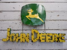 Industrial Metal John Deere Sign ~ Rustic Vintage Style Farm Barn Decor in Antiques, Primitives | eBay Farm Barn, Old Signs, Industrial Metal, Primitives, Decoration, Vintage Fashion, Rustic, Ebay, Style