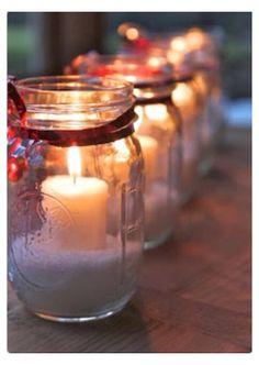 Cute Christmas Decor With A Mason Jar
