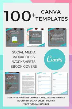100+ Canva Template. Easy to customise using Canva. Change all colours, fonts and images. No graphic design skill required. Comes with beginners guide to Canva and other tutorials.