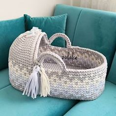 Image may contain: indoor Mosses Basket, Crochet, Baby Shoes, Throw Pillows, Photo And Video, Instagram, Kids, Cake Recipes, Indoor