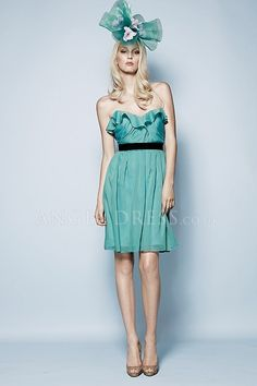 A line Sweetheart Sleeveless Chiffon Backless Empire Bridesmaids Dresses