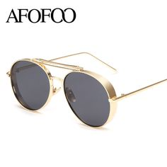 26b26d7b086e *100% New, Real shooting 2016 New Fashion Double Bridge Sunglasses Women  Coating Sun