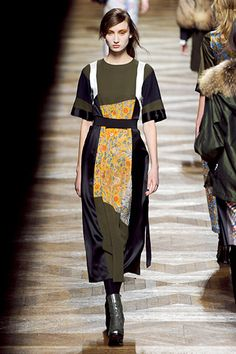 I just really adore these dresses.  #DriesVanNoten #Paris #FashionWeek