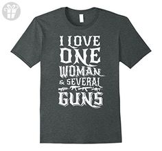 Mens I love one woman and several guns Shirt, Funny Birthday Gift Large Dark Heather - Birthday shirts (*Amazon Partner-Link)