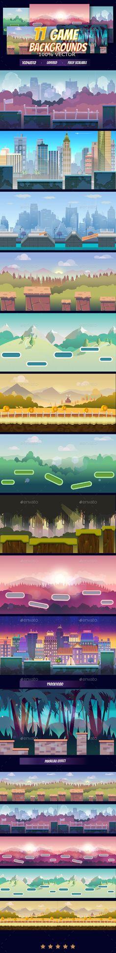 11 Game Backgrounds Pack III Download here: https://graphicriver.net/item/11-game-backgrounds-pack-iii/19351845?ref=KlitVogli
