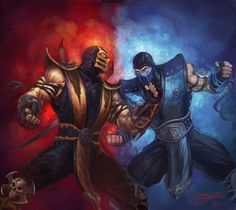 Scorpion vs. Sub-Zero - Mortal Kombat - Hee Won Lee