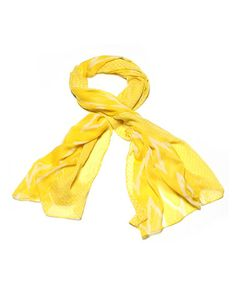 Take a look at this Yellow Louise Scarf by Amrita Singh on #zulily !