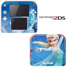 Frozen Decorative Video Game Decal Cover Skin Protector for Nintendo Xbox 360, Playstation, Nintendo Ds, Wii U, Set Cover, Video Game Console, Plastic Case, Vinyl Decals, Gifts For Kids