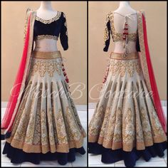 Bridal Lehenga by MischB Couture, desibride desicouture desi fashion indian bride