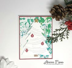 4 Christmas cards for TupeloDesignsLLC using Concord & 9th | Embellish Craft Love