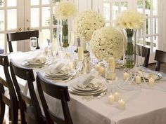 Dress Up the Table - 5 Easy Ideas for an Elegant Dinner Party on HGTV