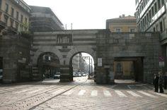 Archi di Porta Nuova - Via Manzoni World Photography, Travel Photography, Romanesque, Civilization, Milan, Period, Around The Worlds, Architecture, City