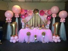 Fresh ideas for your Princess Birthday Decorations Minnie Birthday, Baby Girl Birthday, Minnie Mouse Party, Unicorn Birthday Parties, Princess Birthday, Princess Party, Birthday Party Decorations, Birthday Ideas, Pink Princess