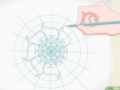 3 formas de dibujar mandalas - wikiHow Zentangle Patterns, Drawings, Simple Mandala Designs, Mandala Drawing, Flower Rings, Draw Something, Watercolor Paper, Drawing Tools, Ring Making