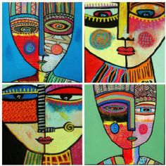 25 Picasso Inspired Art Projects For Kids - portrait face ideas Informations About 25 Picasso Inspired Art Projects For Kids Pin You can easily - Kunst Picasso, Picasso Art, Picasso Style, Picasso Kids, Pablo Picasso, Portraits Cubistes, Portraits For Kids, Picasso Portraits, Motif Art Deco
