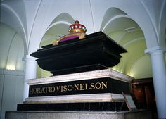 Vice Admiral Horatio Nelson, 1st Viscount Nelson, 1st Duke of Bronté - tomb in crypt of St. Paul's Cathedral
