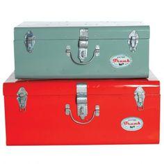 House Doctor Koffer Metall Vintage