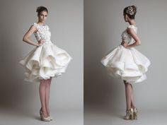 Short wedding dress by Krikor Jabotian.