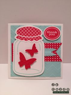 Perfectly Preserved with Chevron embossing folder & Beautiful Wings embosslist. Thanks JK!