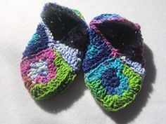 Most Colorful Crocheted Granny Square by crochetedbycharlene