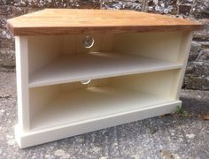 Chunky Rustic Corner Tv Unit Stand By Justoriginalsin On Etsy