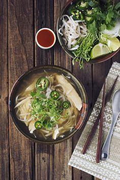 Chicken Pho (Vietnamese Noodle Soup) /