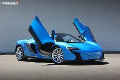 Cerulean Blue McLaren MSO 650S Spider