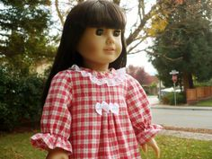 American girl pajama sleep wear Handmade Doll by PaulasArtStore.