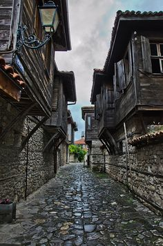 An old street in Nesebar, Bulgaria.