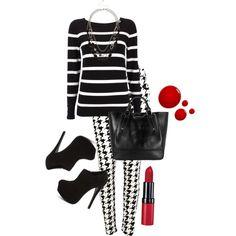 Houndstooth & Stripes