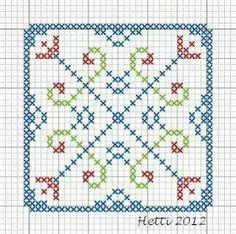 Creative Workshops from Hetti: SAL Delfts Blauwe Tegels, SAL Delft Blue Tiles. Part 1 en part Biscornu Cross Stitch, Cross Stitch Embroidery, Hand Embroidery, Delft, Blackwork, Cross Stitch Designs, Cross Stitch Patterns, Knitting Patterns, Stitch Crochet