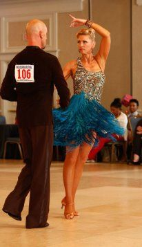Love that blue color!!! #Ballroom #Dance The Paso Doble at Philadelphia Dancesport 2012 with Charlene Proctor