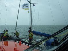 Zeiljacht in problemen tijdens ANWB flottielje