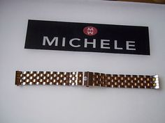 Michele Urban Mini 16mm Stainless Steel Gold Two Tone Watch Band MS16CM280009   eBay