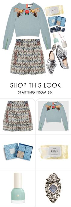 """""""Untitled #2173"""" by lbenigni ❤ liked on Polyvore featuring Anna Sui, Gucci, Vera Bradley, philosophy, Loeffler Randall and Dress My Cupcake"""