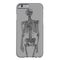 Monochrome Skeleton Skull iPhone 6 Case