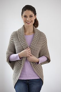 Canyon Shrug - Free crochet pattern, aran weight yarn. There are links for the pattern in different yarn weights at the bottom. Free Lion Brand registration required.