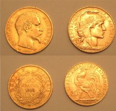 A French Gold Napoleon and Rooster #goldcoins #france #gold