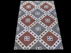 Really old Victorian floor tiles - set of 250 tiles - 10sqm of surface