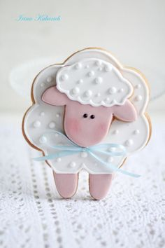 ♥ Sheep cookie by Irina Kubarich. ♥