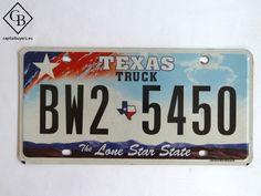 Placa - Matrícula metálica original de USA - Texas - Truck