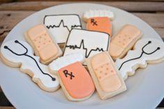 Nurse/Doctor Sugar cookies 12 by SugarbeeGoodies on Etsy, $24.00