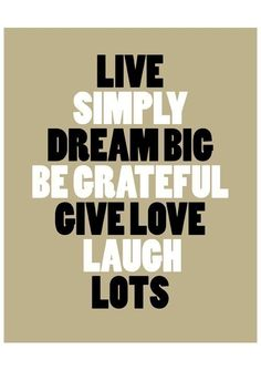 live simply. by the love shop on etsy.