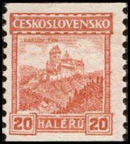 Sello: Karlův Týn (Checoslovaquia) (Castles, landscapes and cities) Mi:CS 257,Sn:CS 141,Yt:CS 229,AFA:CS 122,POF:CS 216