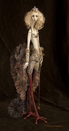 She is an OOAK BJD doll sculpted by the amazing and original artist: Dorote Zaukait Clay Dolls, Bjd Dolls, Fantasy Creatures, Mythical Creatures, Enchanted Doll, Art Sculpture, Creepy Dolls, Art Plastique, Ball Jointed Dolls