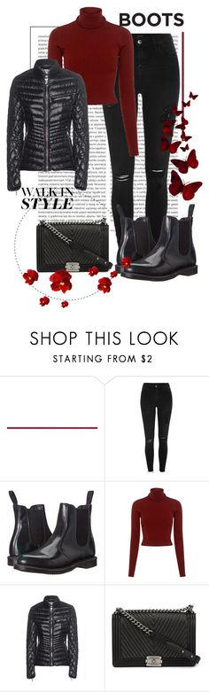 """Kick It: Chelsea Boots"" by shoenique ❤ liked on Polyvore featuring Oris, River Island, Dr. Martens, A.L.C., Colmar and Chanel"