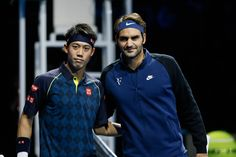 Kei Nishikori and Roger Federer - That was an awesome match!! ATP World Tour Finals 2015 RR