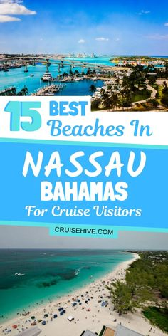 Check these travel tips for the best beaches in Nassau, Bahamas for cruise ship visitors. Covering where each beach is and the things to do there. #cruise #cruises #nassau #bahamas #bahamasvacation #beaches