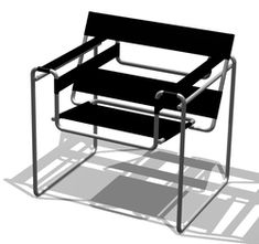Wassily Fauteuil or Model B3 by Marcel Breuer 1925